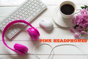 Pink Headphones